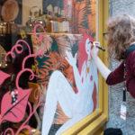 Photo fresques vitrines